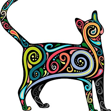 Psychedelic Cat by soulwhispherer