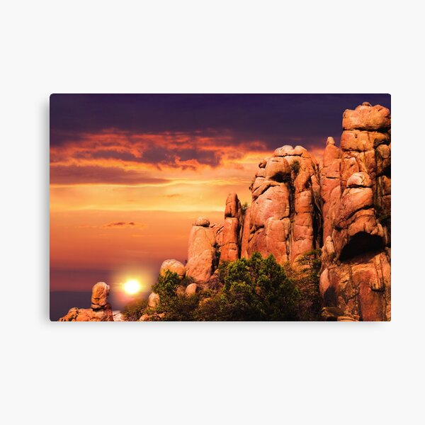 Sunset Dells Staircase Canvas Print