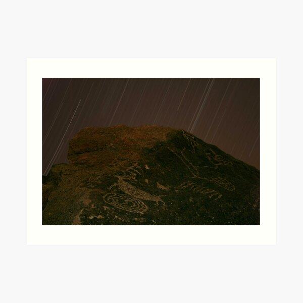 Stars Over Petroglyphs, Eastern Sierra Art Print