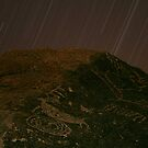 Stars Over Petroglyphs, Eastern Sierra by Tyler  Core