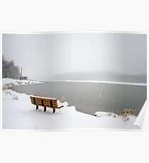 Looking Over the Frozen Lake Poster