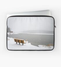 Looking Over the Frozen Lake Laptop Sleeve