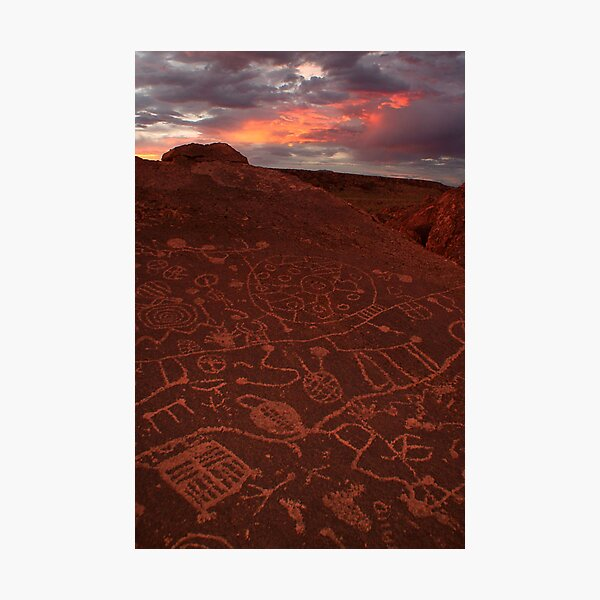 Eastern Sierra Petroglyphs Photographic Print
