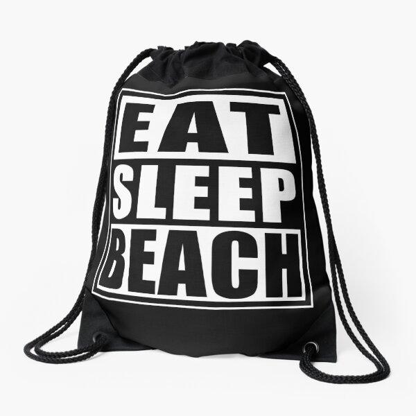 Funny Beach Drawstring Bag