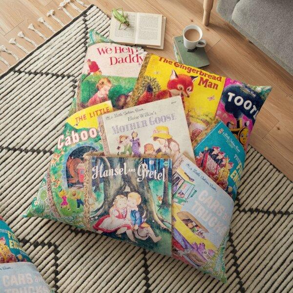 Little Vintage Library Floor Pillow