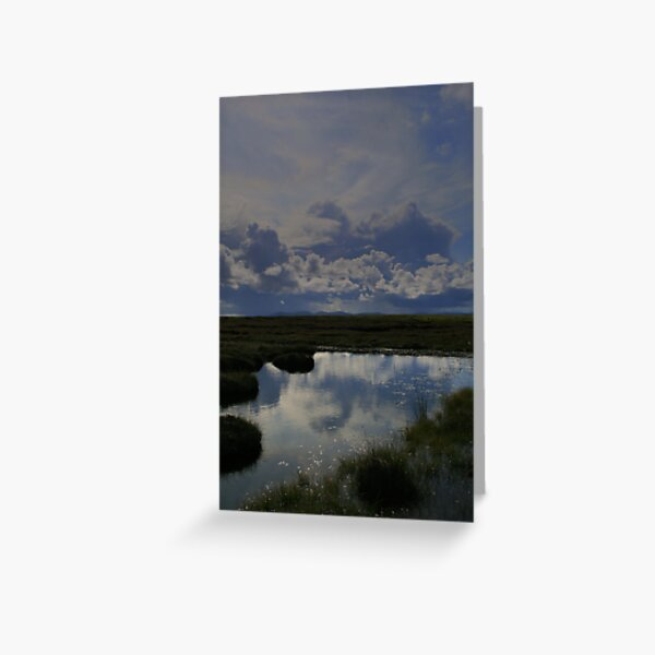 Isle  of  Lewis  blue  puddle Greeting Card