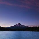 Mount Hood and Trillium Lake at blue hour by Adam Nixon