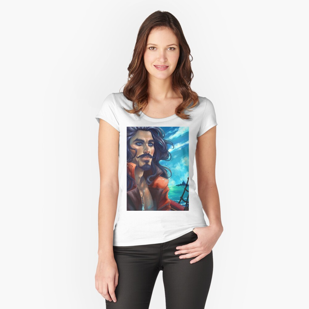 Captain Hook- Adventure Women's Fitted Scoop T-Shirt Front