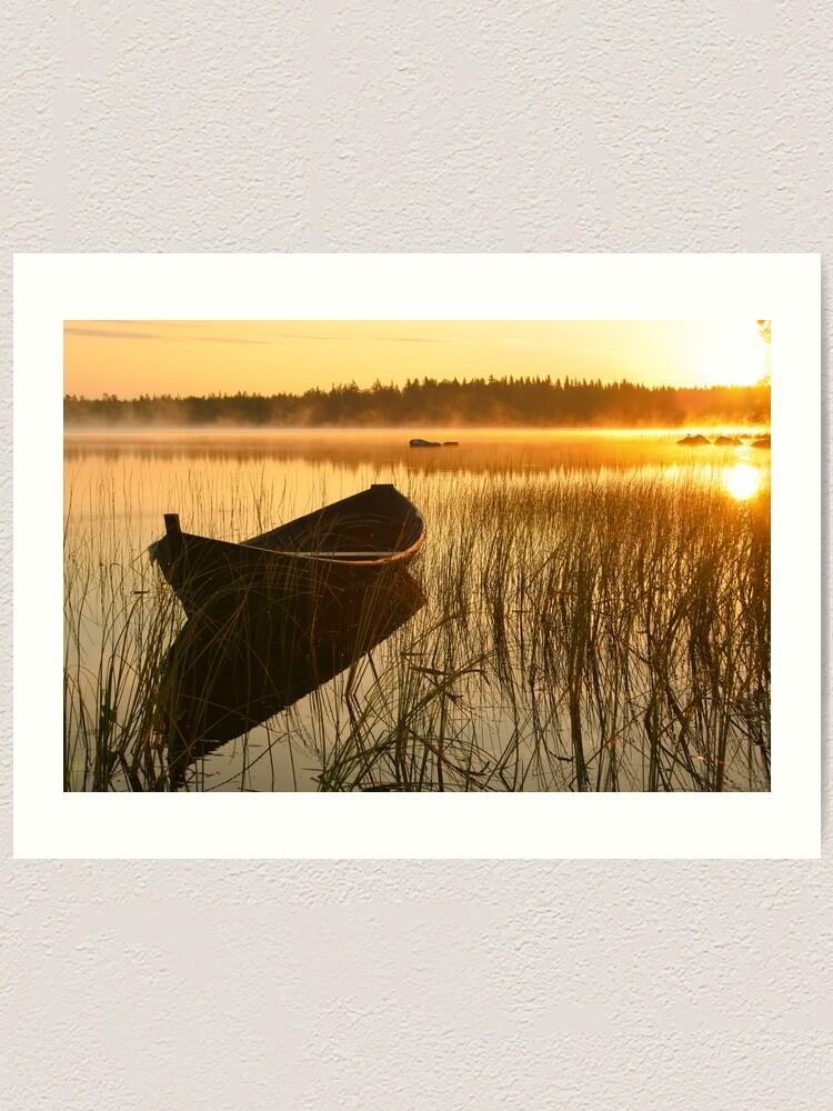 Alternate view of Wooden boat Art Print