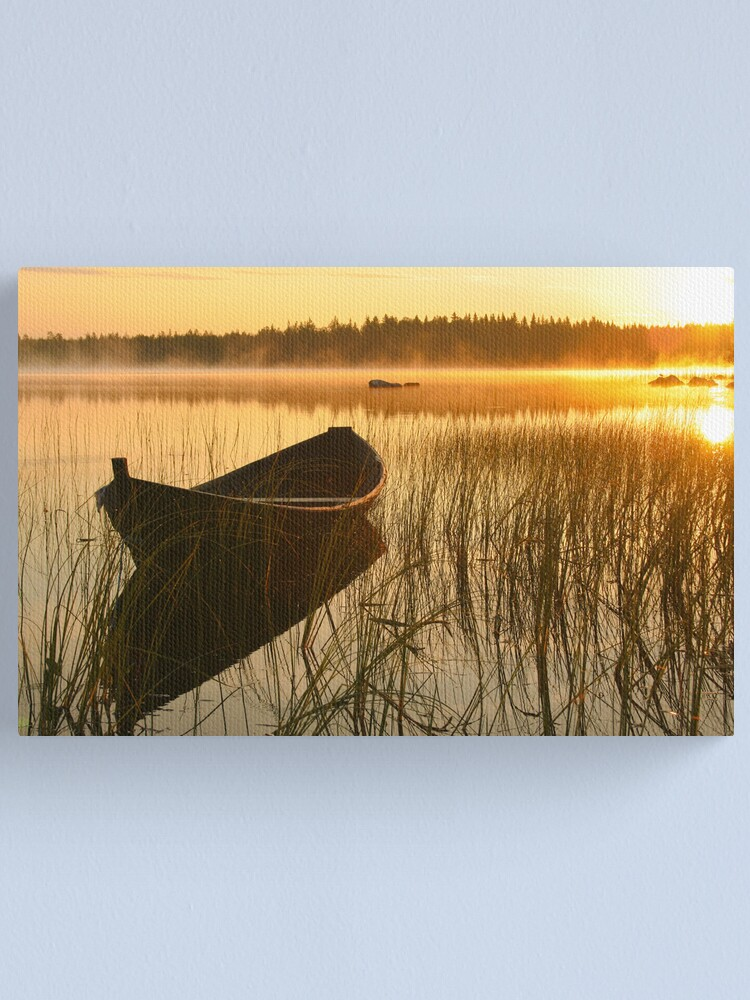 Alternate view of Wooden boat Canvas Print