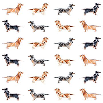 Tiling Origami Dachshunds by Dwuff