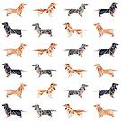 Tiling Origami Dachshunds by Danelle Malan