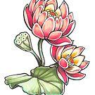 Lotus Blossoms by FaerytaleWings
