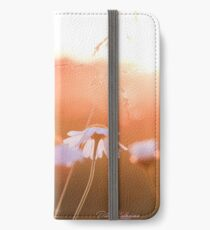 Colorful sunset with flowers iPhone Wallet/Case/Skin