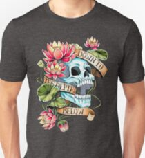 Skull and Lotus Slim Fit T-Shirt