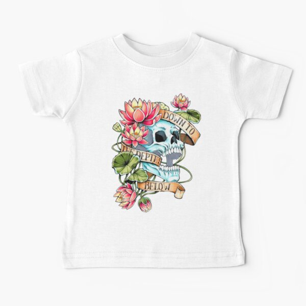 Skull and Lotus Baby T-Shirt