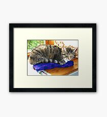 Meg & The Withering Look Framed Print