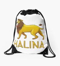 Halina Lion Drawstring Bags Drawstring Bag