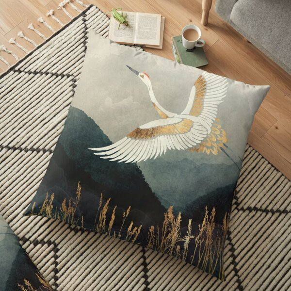 Elegant Flight Floor Pillow