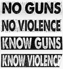 No Guns No Violence - Know Guns Know Violence Poster
