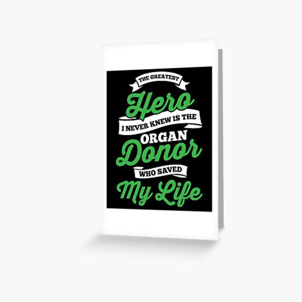 Organ Transplant Greeting Card