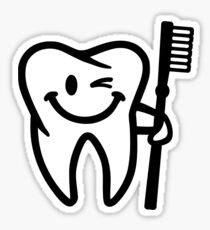 Happy tooth toothbrush Sticker