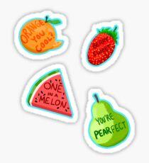 Cute as a Fruit pack (fruit pun sticker pack) Sticker