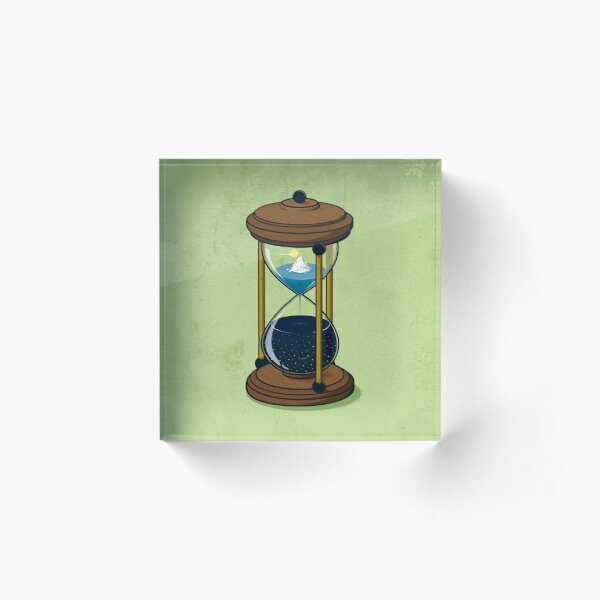 Time Acrylic Block
