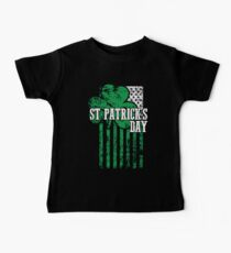 Irish Pride Distressed Saint Patrick's Day Flag Baby Tee
