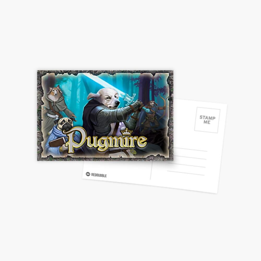 Pugmire: Adventuring Party Postcard