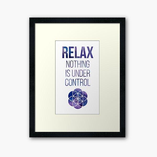 Relax Mindfulness Buddha Quote Framed Art Print