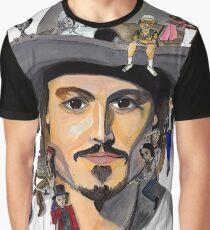 Johnny Depp no back Graphic T-Shirt
