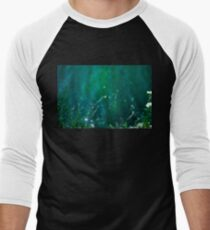 Fairy Tail - Flower on the Water - Magic Grass Men's Baseball ¾ T-Shirt