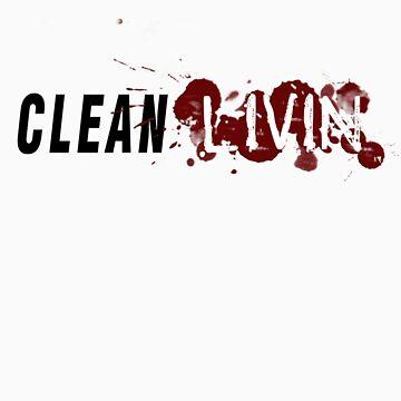 Clean Livin Logo - White Shirt by ESSstore