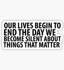 OUR LIVES BEGIN TO END Sticker