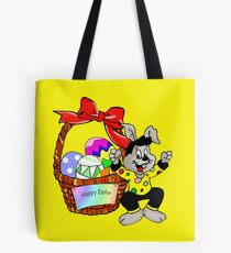 Easter bunny with Easter egg basket Tote Bag