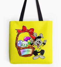 Easter bunny with Easter egg basket Tote Bag