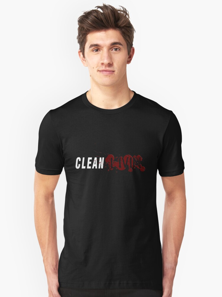 Clean Livin Logo - Black Shirt by ESSstore