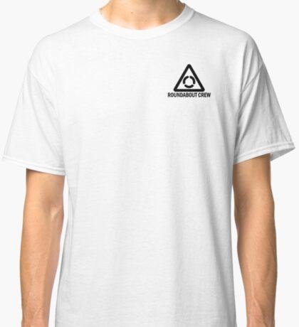 Black Roundabout Crew Logo Classic T-Shirt