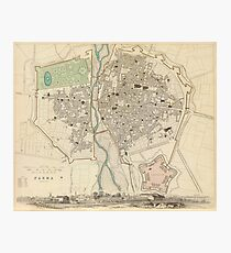 Vintage Map of Parma Italy (1840) Photographic Print