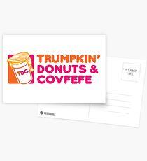 Trumpkin' Donuts & Covfefe  Postcards