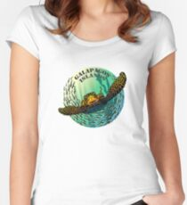 Sea turtle and fish Galapagos Islands Women's Fitted Scoop T-Shirt