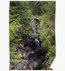 Falls of Bruar, Scotland Poster