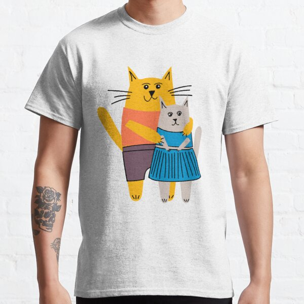 Male and female cats walking around Classic T-Shirt
