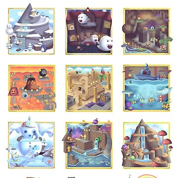 Super Mario 64 Paintings by theoceanowl