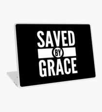 Saved By Grace Short Bible Verse Quote Christian Gifts Laptop Skin