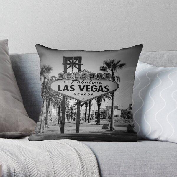Welcome To Las Vegas Sign Series 3 of 6 Holga Black and White Throw Pillow
