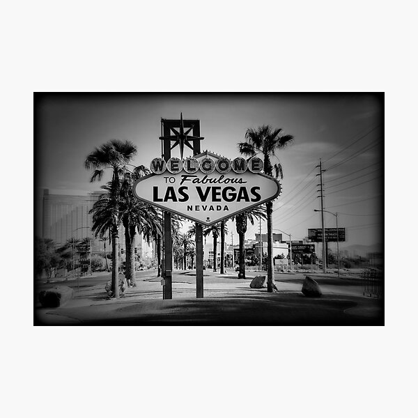 Welcome To Las Vegas Sign Series 3 of 6 Holga Black and White Photographic Print