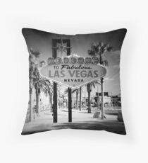 Welcome To Las Vegas Sign Series 5 of 6 Holga Infrared Throw Pillow