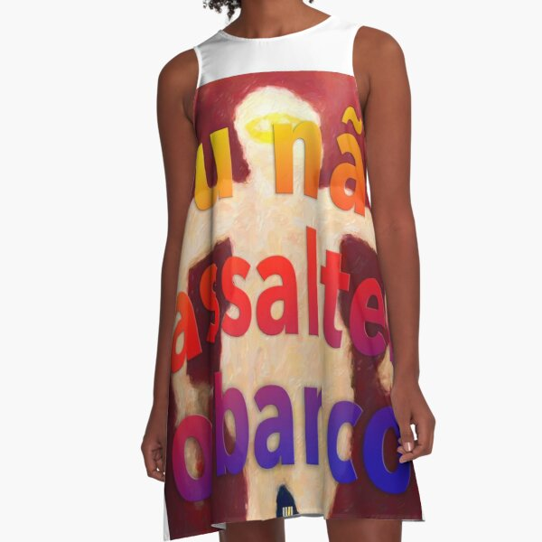 The Bank Assault Art Project A-Line Dress